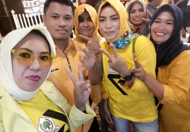 Kader Golkar Makassar Sambut Kedatangan Sandiaga Uno