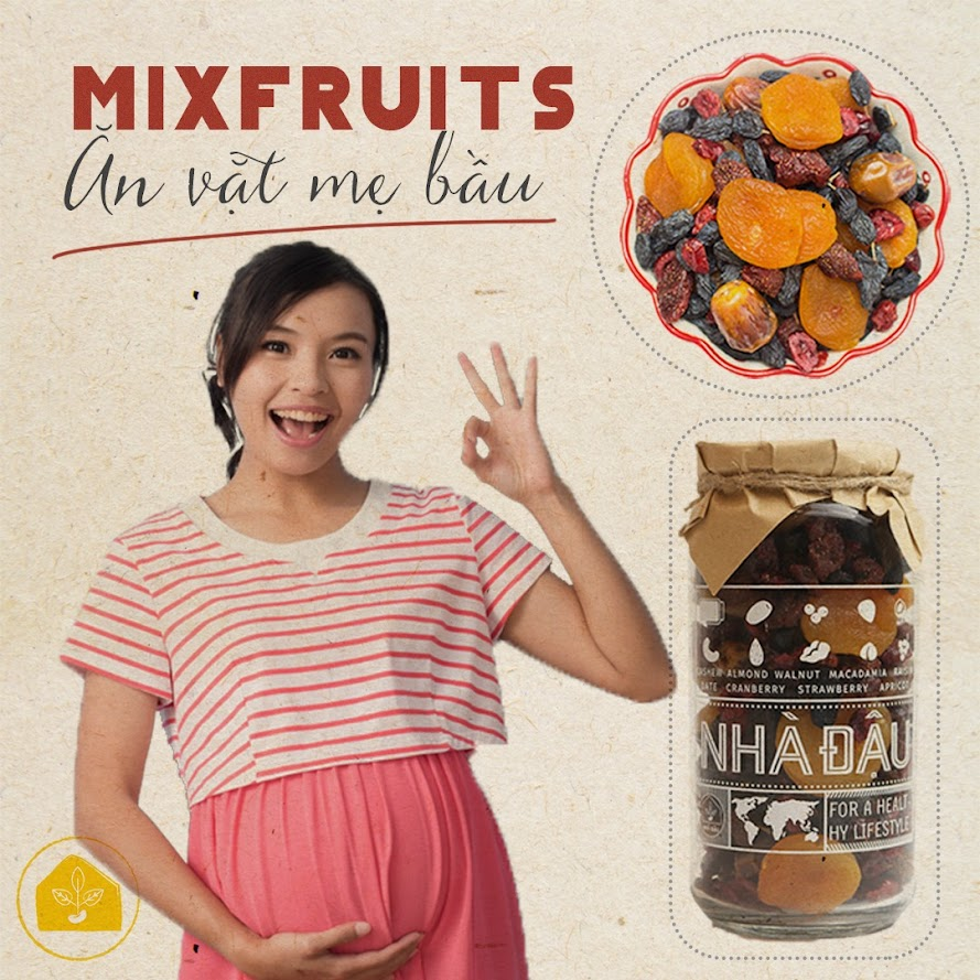 Combo ăn vặt giúp Mẹ Bầu 3 tháng phòng ngừa thiếu dinh dưỡng