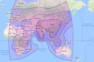 Satellite Beam Coverage Apstar 7 76.5°E C Band
