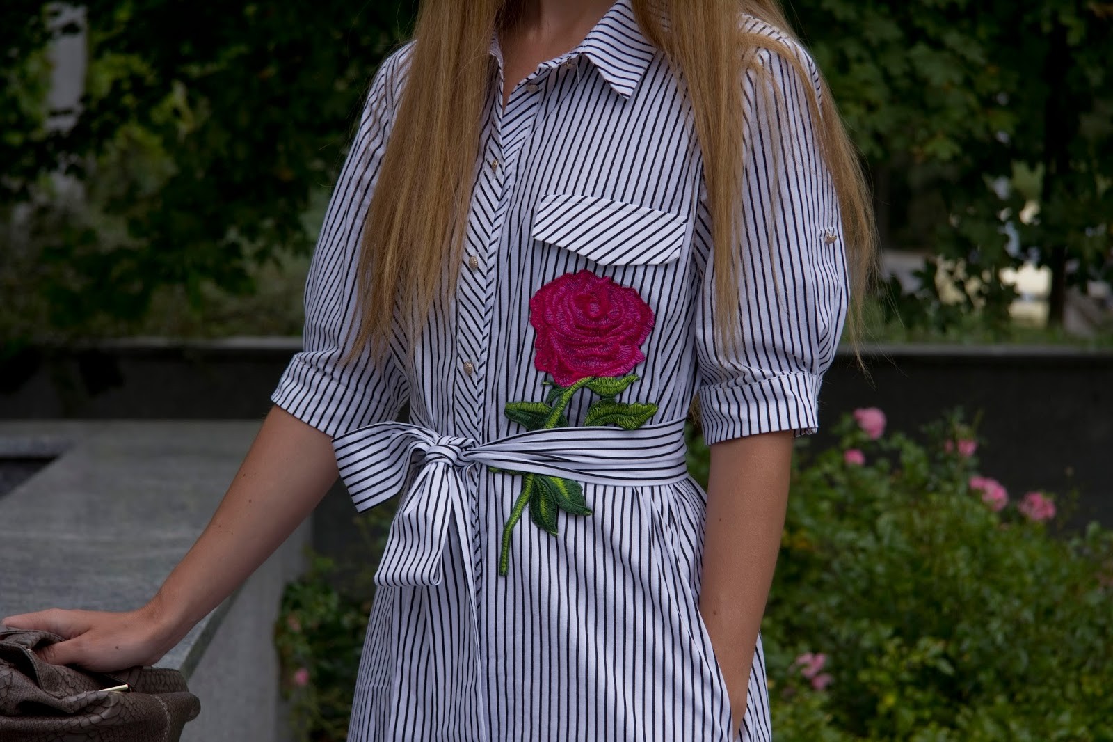 D&G inspired embroidered rose dress