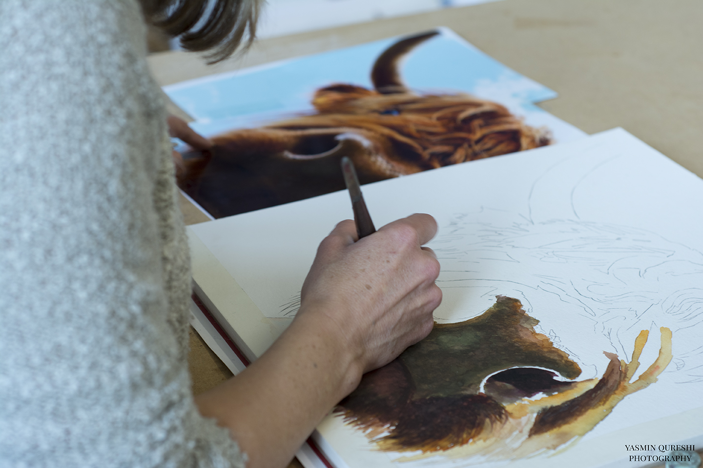 The Story of Watercolour Artist Sarah Stokes by Yasmin Qureshi Photography