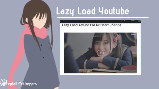 Cara Membuat Lazy Load Youtube Dengan Tombol Play Responsive