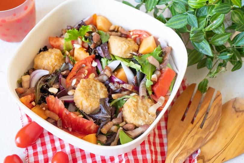 recette Salade été et camembert pané