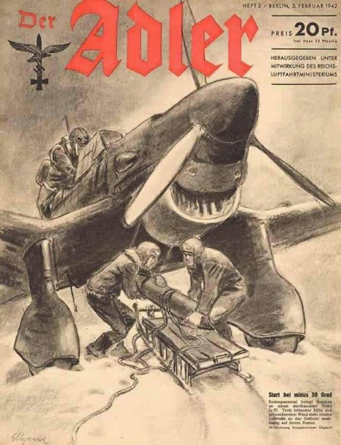 Luftwaffe Ju 87 Stuka on the cover of Der Adler magazine worldwartwo.filminspector.com