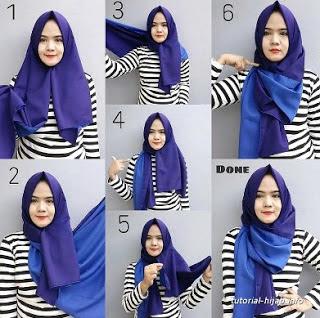 Cara memakai hijab untuk hidung pesek