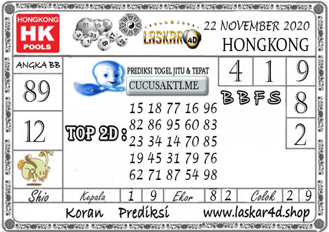 Prediksi Togel HONGKONG LASKAR4D 22 NOVEMBER 2020