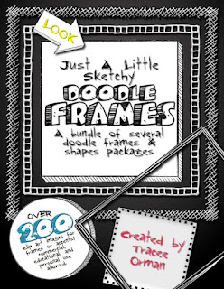 Just a Little Sketchy Clipart Doodle Frames and Shapes http://www.teacherspayteachers.com/Product/Doodle-Sketches-Bundle-of-Clip-Art-Graphics-for-Commercial-Use