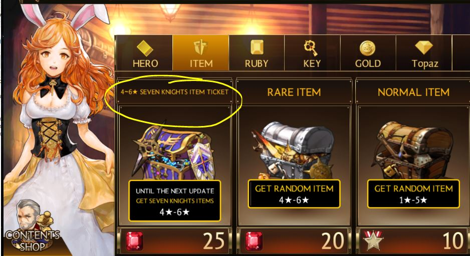 Moreover, the chances of getting a 6star 7k equipment is rather low unless  you are close buddies with RNGesus. I would'nt recommend spending a lot of  rubies ...