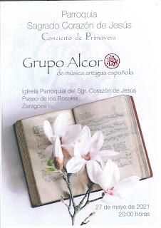 27-V-21. Suspendido el concierto de primavera del grupo Alcor