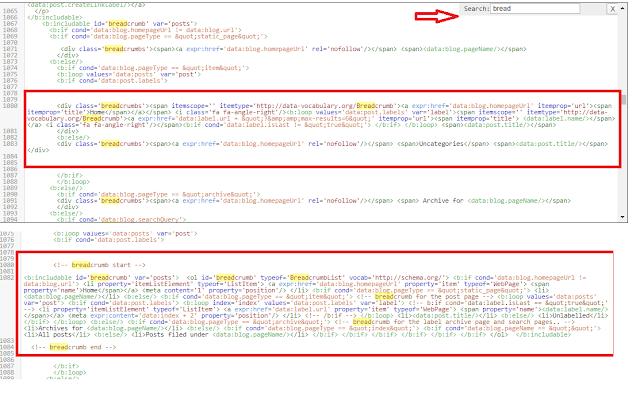 add html data-vocabulary.org Breadcrumb Error