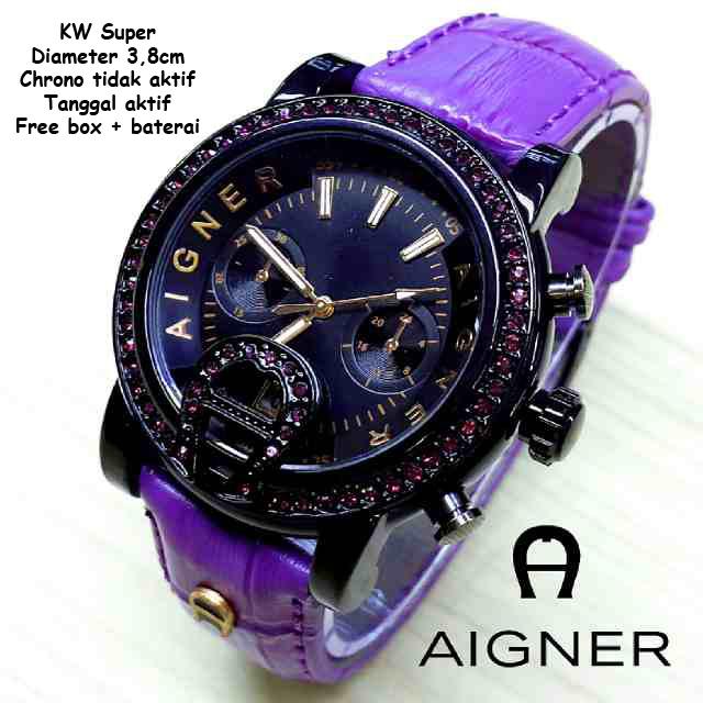 Jam Tangan Aigner Diamond Colour Leather Purple termurah dan berkualitas 1d9d0556b9