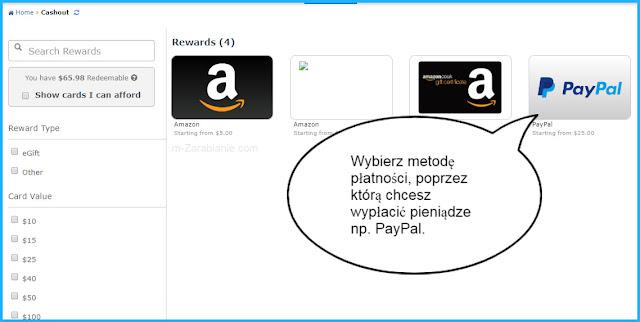 Wypłata pieniędzy z ySense na PayPal.