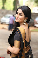 Poorna in Cute Backless Choli Saree Stunning Beauty at Avantika Movie platinum Disc Function ~  Exclusive 017.JPG
