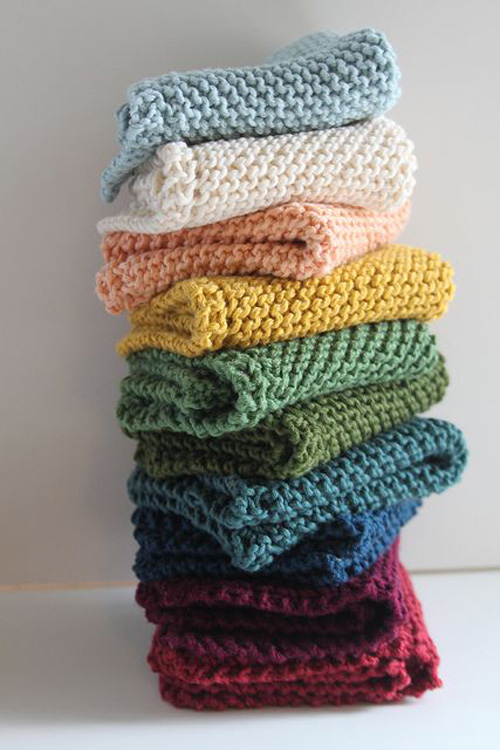 Diagonally Knit Dishcloth - Free Knitting Pattern