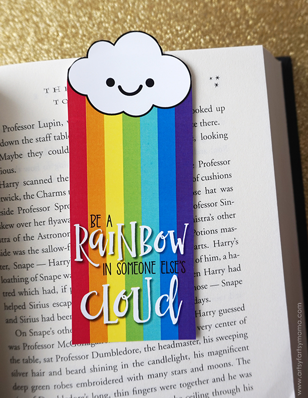 Brighten someone else's day with these Free Printable Rainbow Bookmarks inspired by Maya Angelou!