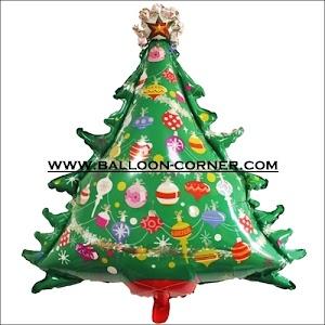 Balon Foil Pohon Natal (Ukuran JUMBO)