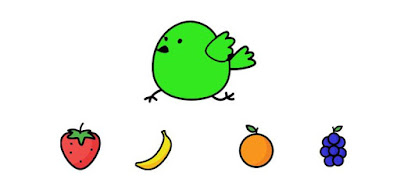Q 6. Which two fruits did color bird eat?