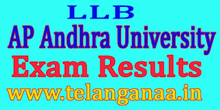 AP Andhra University LLB 3rd Year 1st Sem Feb 2016 Exam Results