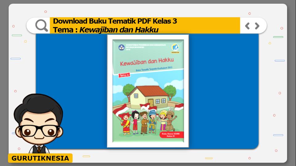 download gratis buku tematik pdf kelas 3 tema kewajiban dan hakku