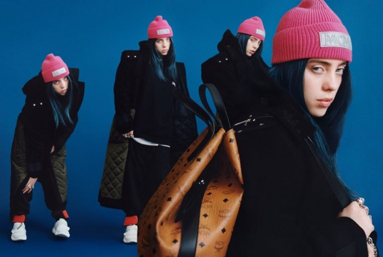 Billie Eilish poses for the MCM Fall/Winter 2019 Campaign