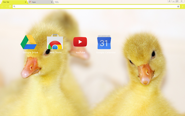 Baby Ducks Chrome Theme