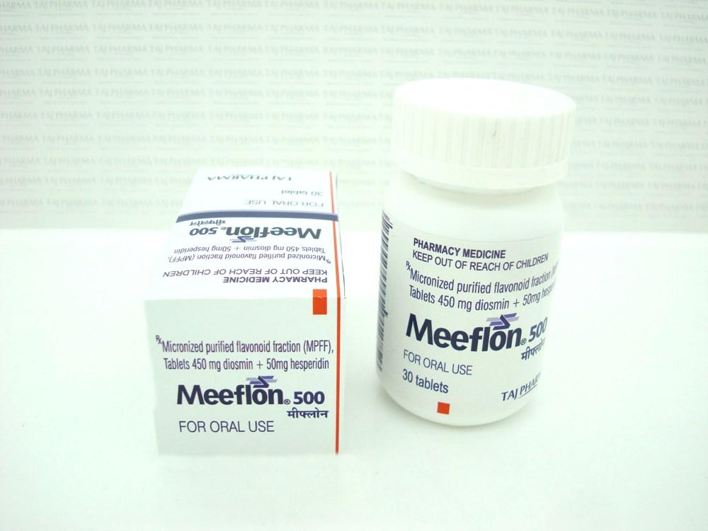 MEEFLON 500®_micronized purified flavonoid fraction 500 mg