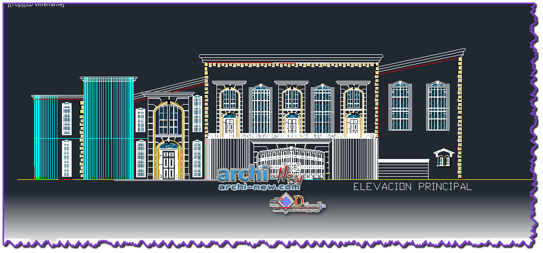 Download autocad dwg file mansion country house archi new for House cad file