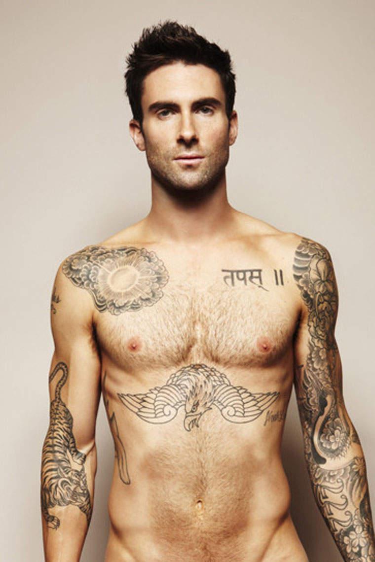 Adam Levine Tattoos For Men