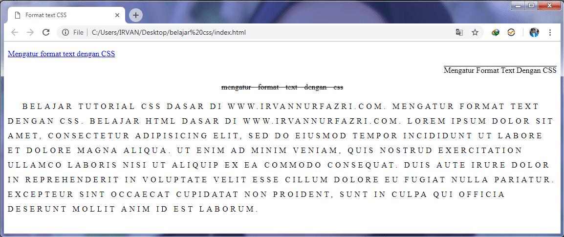 Mengatur Format Text dengan CSS - #IRVANGEN