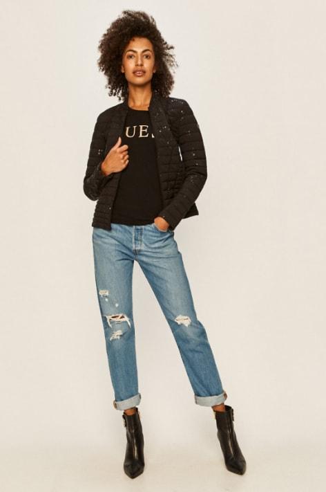 Guess Jeans - Geaca neagra scurta de primavara