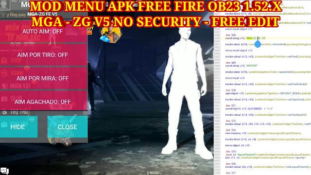 MOD MENU APK FREE FIRE OB23 1.52.X V5 FREE EDIT - AUTO HEAD SHOT 100% - MIỄN PHÍ CHỈNH SỬA MOD MENU.