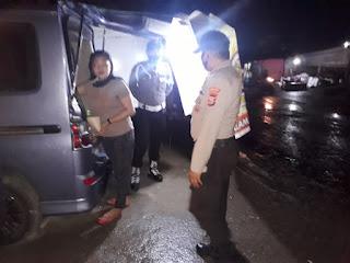 Tekan Kejahatan, Personil Polsek Anggeraja Polres Enrekang Gencarkan Patroli Malam