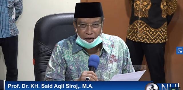 Cegah Covid-19, KH Said Aqil: Sholat Jumat, Tarawih dan Idul Fitri di Rumah Masing-masing