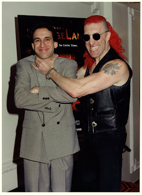 Tony Timpone with radio co-host Dee Snider, lead singer of Twisted Sister