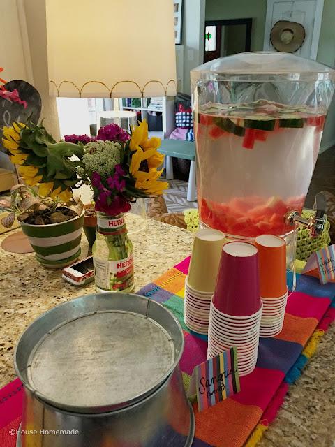 fiesta shower drinks