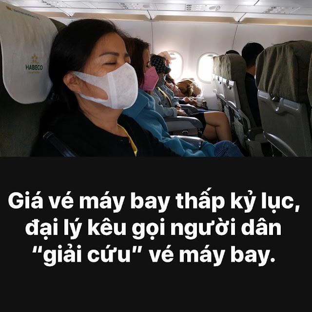 Giá vé máy bay thấp kỷ lục, đại lý kêu gọi kêu gọi người dân 'giải cứu' vé máy bay