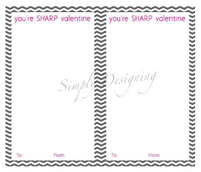youre sharp valentine generic 01a You're SHARP Valentine {Free Printable} 8