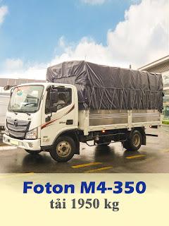 xe tải thaco M4-350 tải trọng 1t9