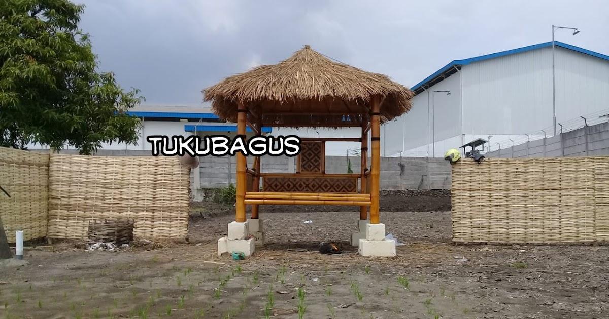 Jual gazebo bambu murah berbagai model jawa timur