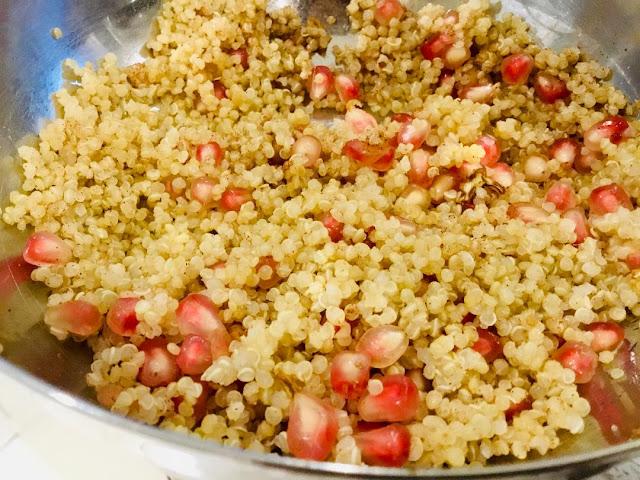 quinoa and pomegranate stuffing