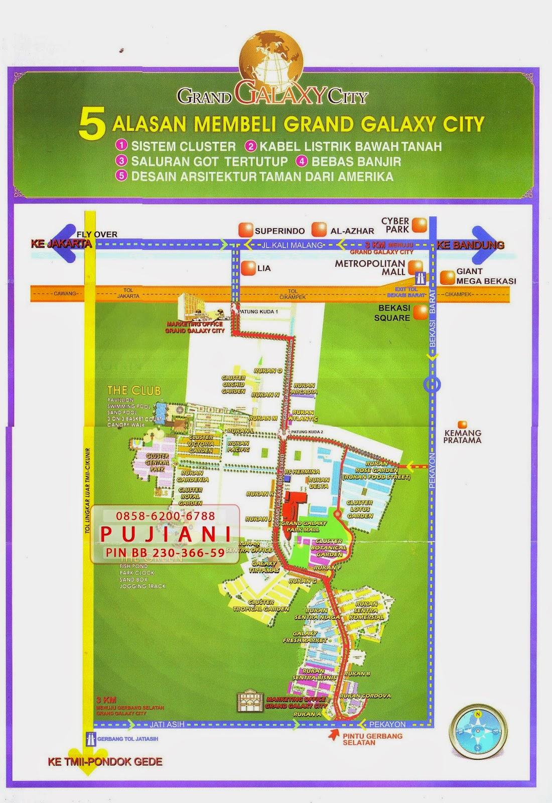 Peta Lokasi - Grand Galaxy City Bekasi