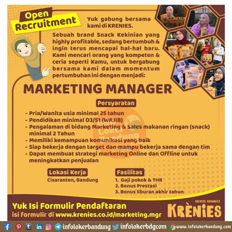Lowongan Kerja Krenies Bandung Juni 2021 Info Loker Bandung 2021