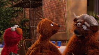 Baby Bear introduces Elmo to his Grampy Bear, Sesame Street Episode 4417 Grandparents Celebration season 44