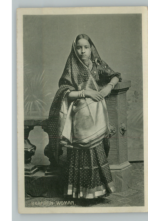 Post Card of an Indian Brahmin Woman - 1910's