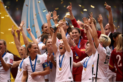 USA celebrates winning the 2015 FIFA Women's World Cup