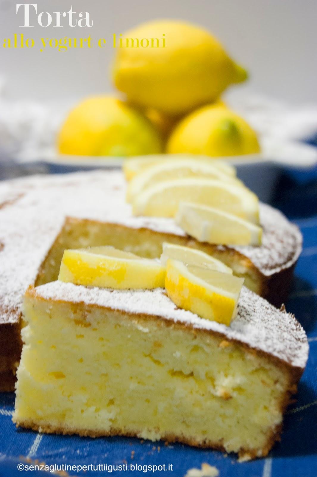 Conosciuto Senza glutineper tutti i gusti!: Torta allo yogurt e limoni  CP31