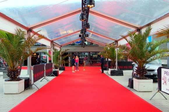 Red carpet Film Festival Ostend