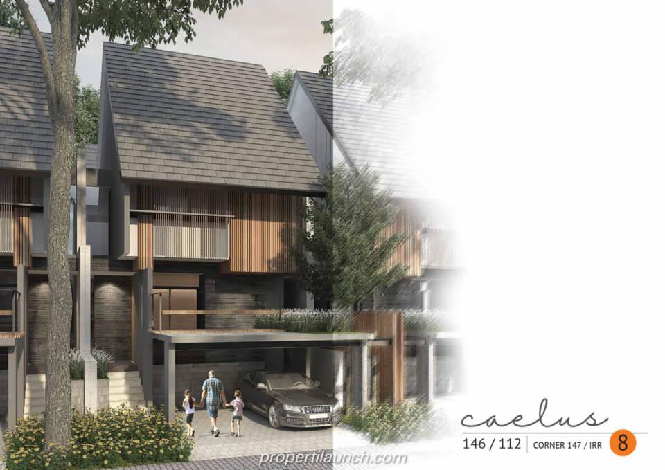 Rumah Cluster Caelus Tipe 8 Corner