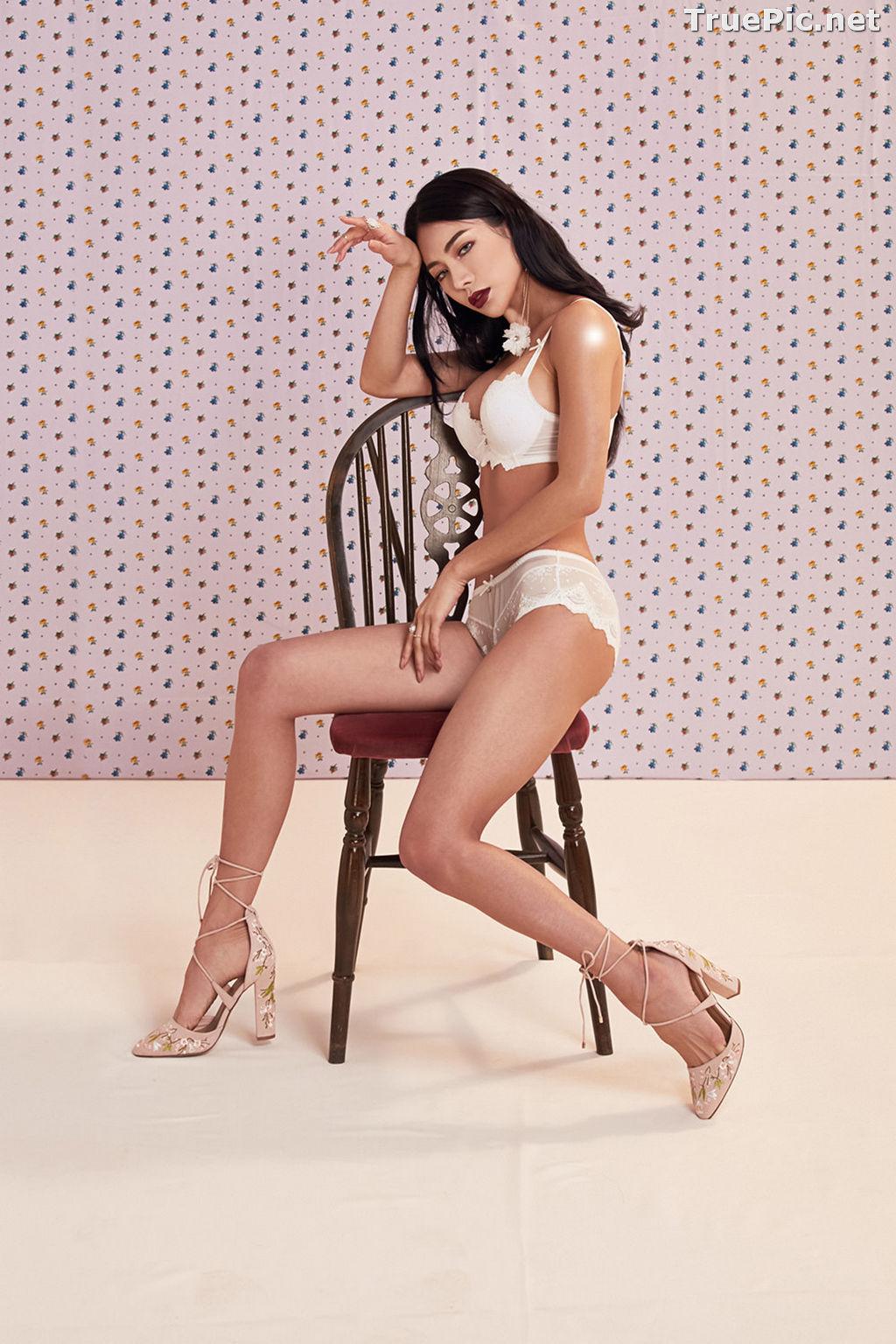 Image Korean Fashion Model - An Seo Rin - White Lingerie and Sleepwear Set - TruePic.net - Picture-7