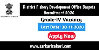 District Fishery Development Office Barpeta Recruitment